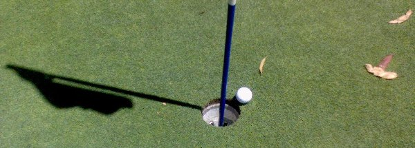 [Almost a hole in one on the 13th!]